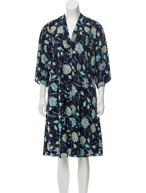 Tome Floral Midi Dress Black