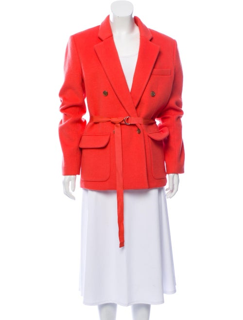 Tome Wool Double-Breasted Blazer Coral