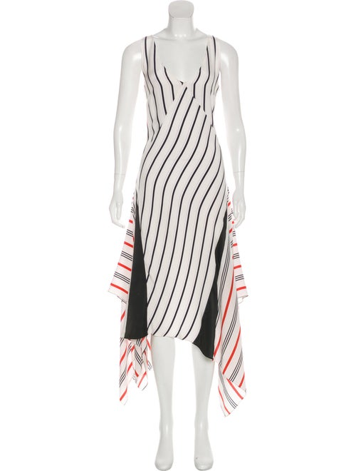 Tome Silk Long Dress White