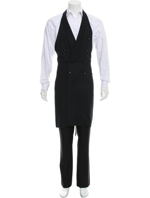 Tom Rebl Double-Breasted Wool-Blend Vest black