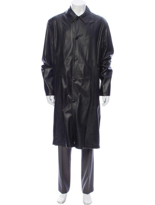 Torras Leather Coat Black
