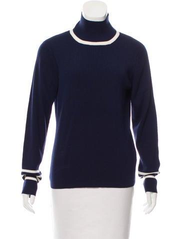 Tory Sport Wool Rib Knit Sweater None