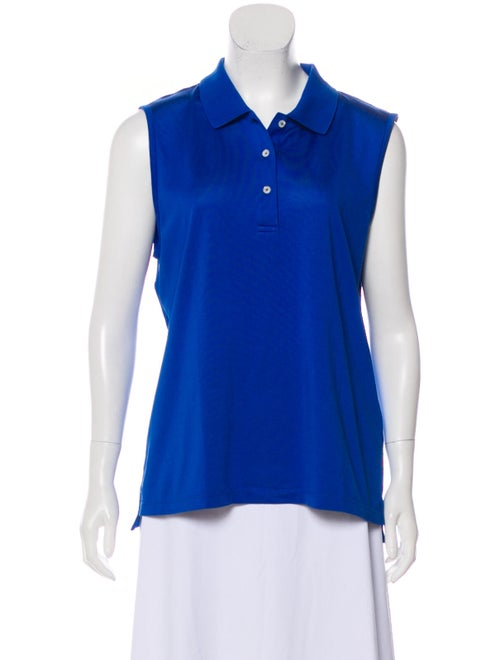 Tory Sport Sleeveless Polo Blue