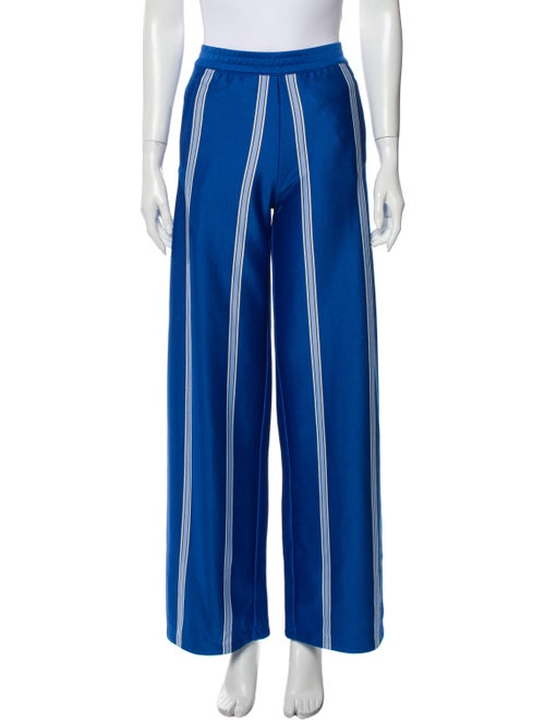 Tory Sport Striped Wide Leg Pants Blue