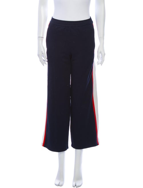 Tory Sport Printed Wide Leg Pants Blue