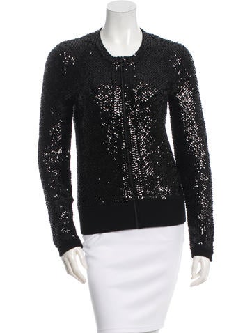 Tamara Mellon Wool Sequined Jacket