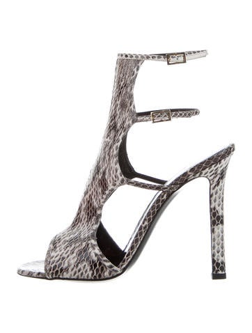 Tamara Mellon Snakeskin Buckled Sandals w/ Tags