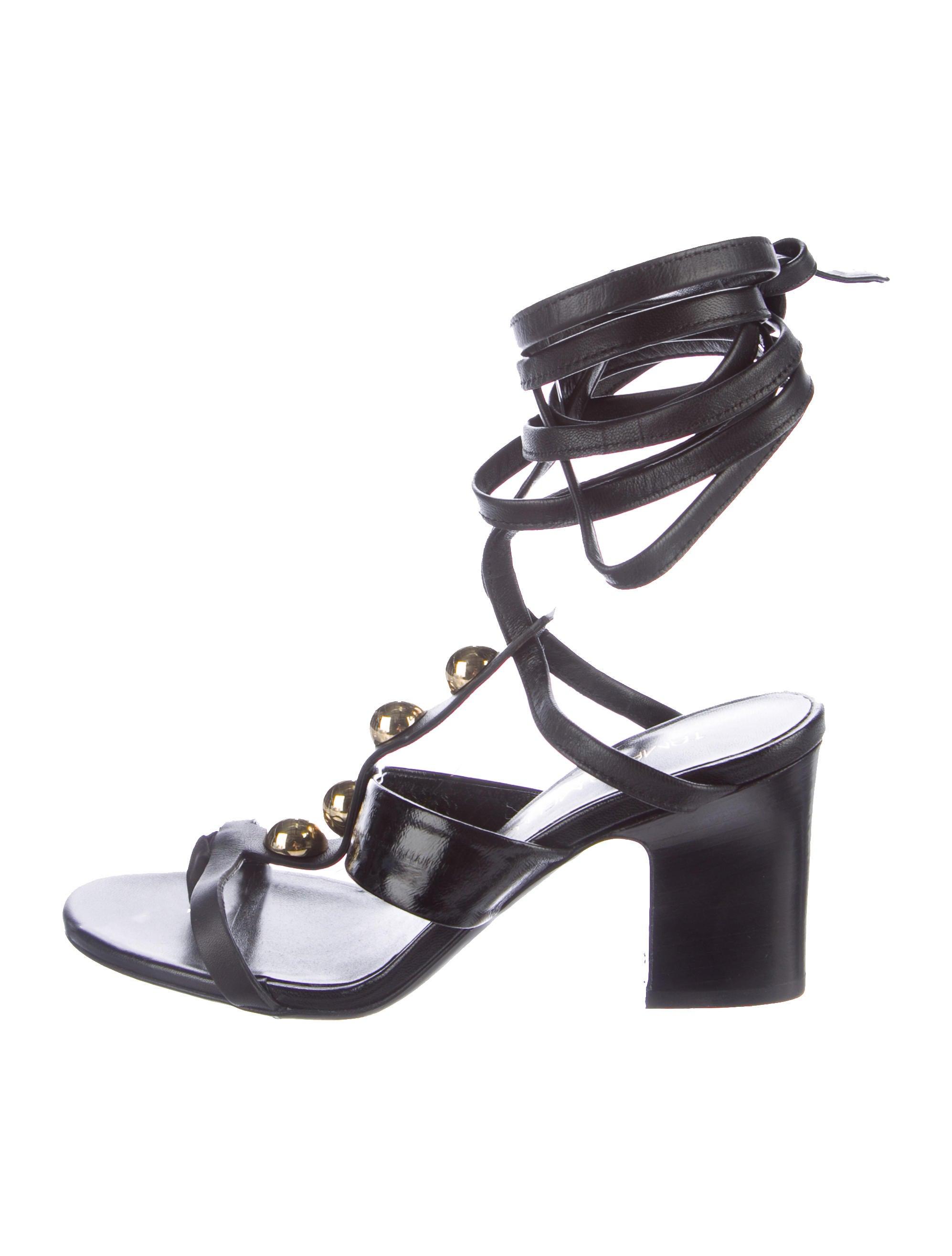 Tamara Mellon Stud Embellished Sandals outlet footaction llOLtp