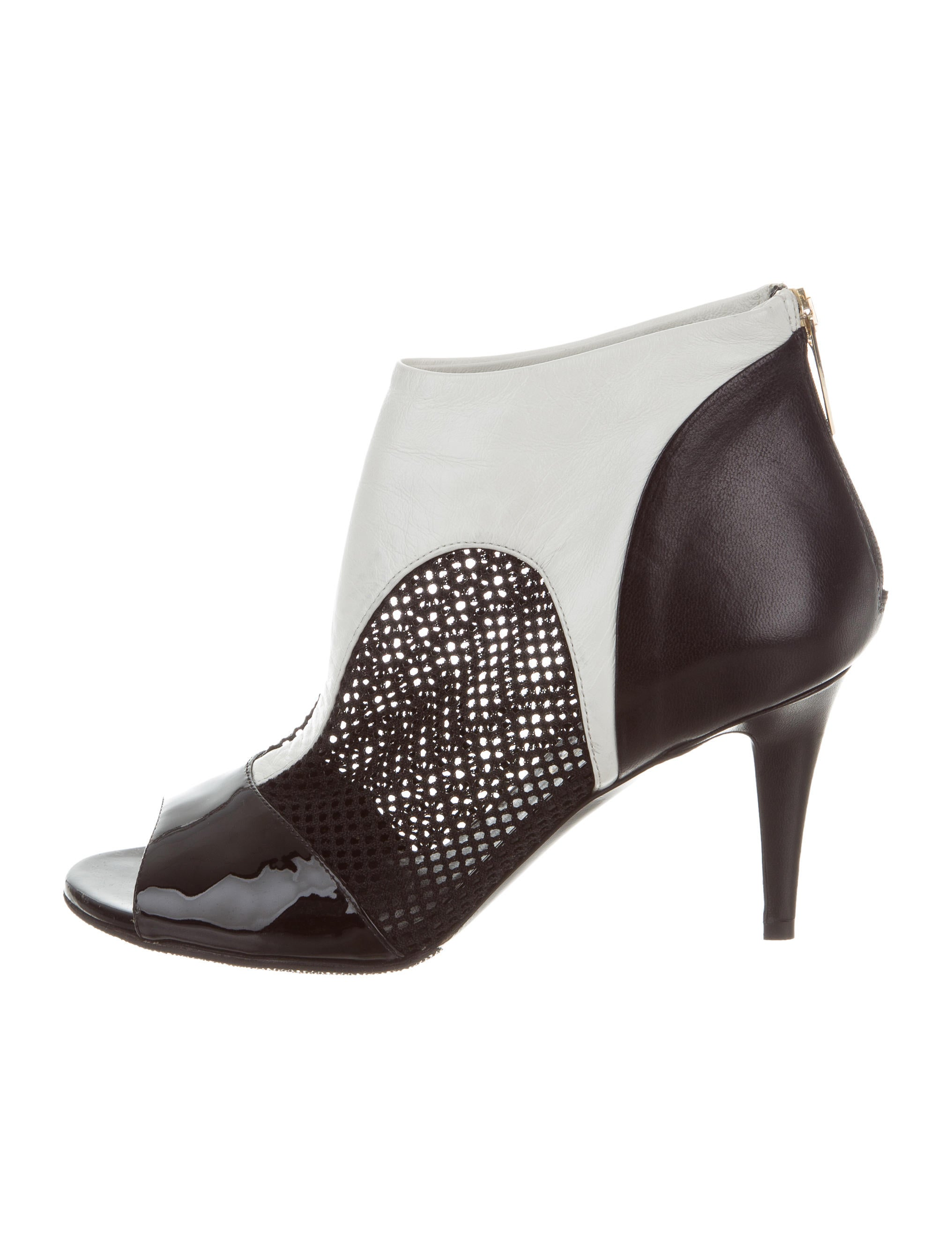 Tamara Mellon Leather Peep-Toe Ankle Boots cheap buy cheap amazon XL1mIlh
