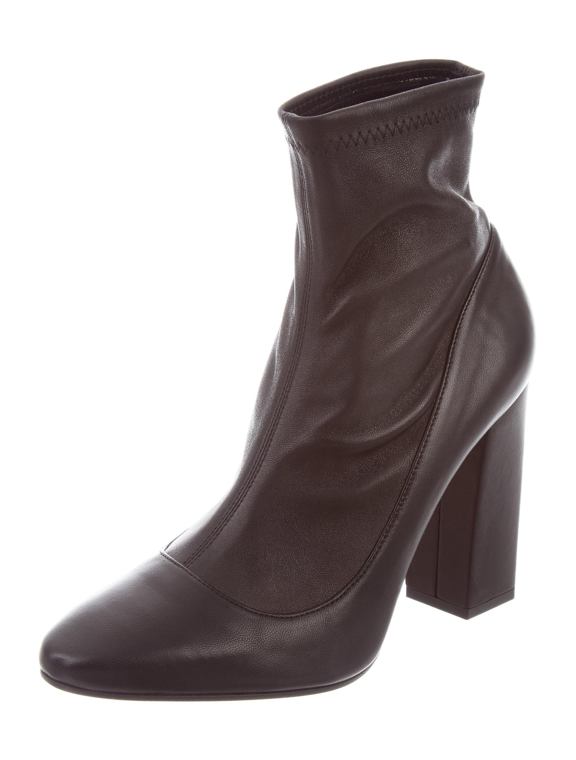 Tamara Mellon Leather Round-Toe Ankle Boots new sale online 64E0xMxo