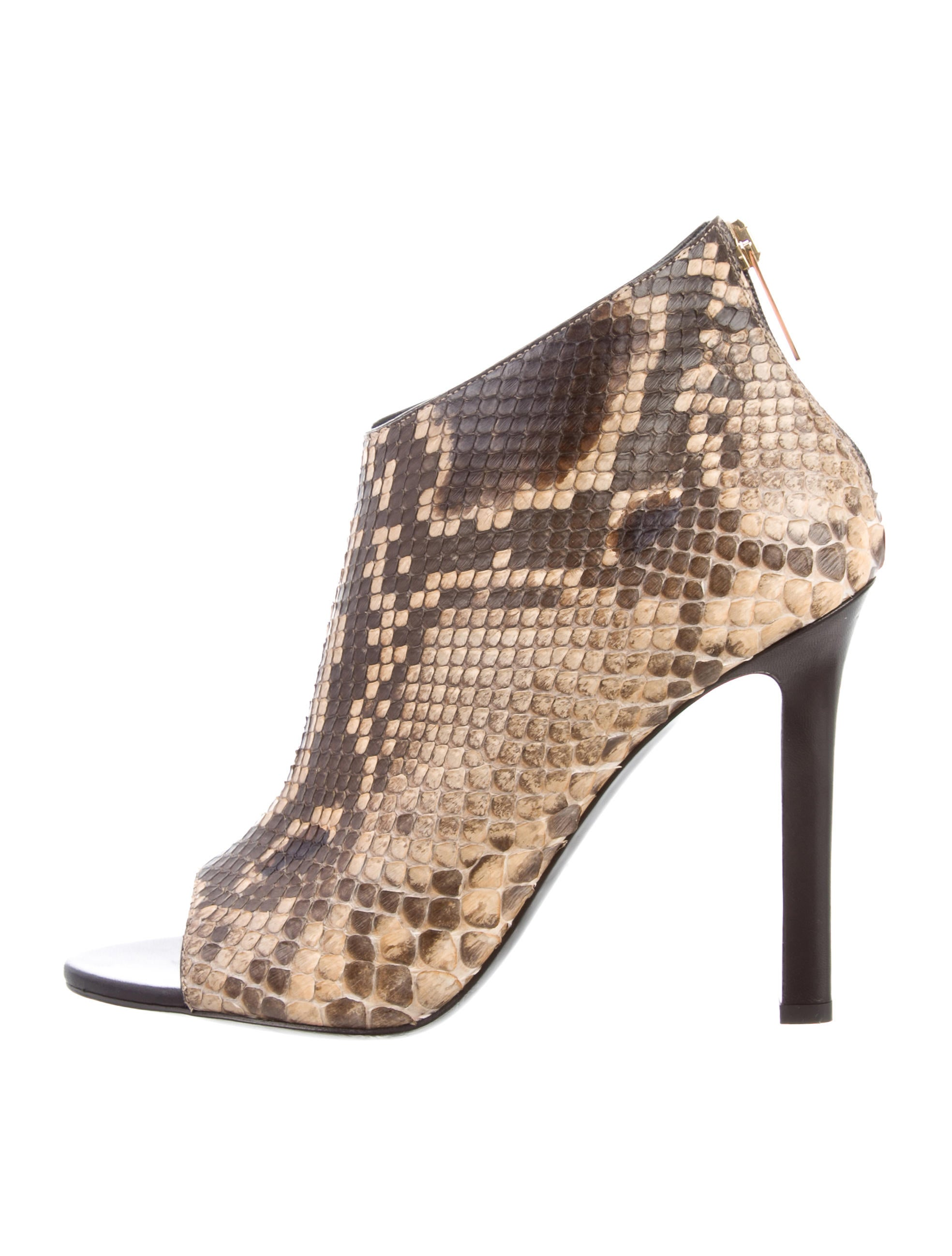 pay with paypal sale online cheap amazon Tamara Mellon Python Peep-Toe Ankle Boots wXiOI