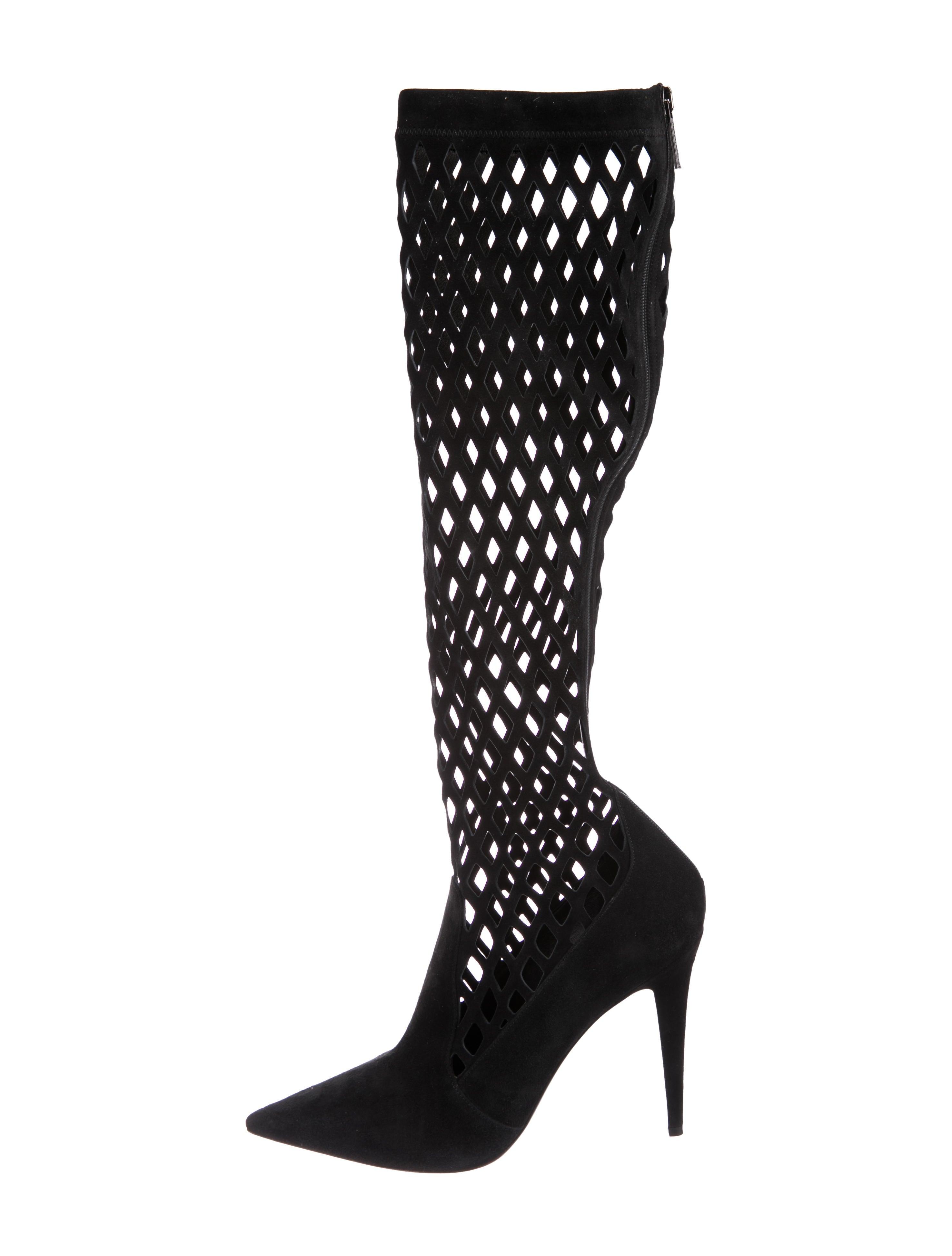 e6cefab24c2 Tamara Mellon Cutout Knee-High Boots - Shoes - WTQ21401 | The RealReal