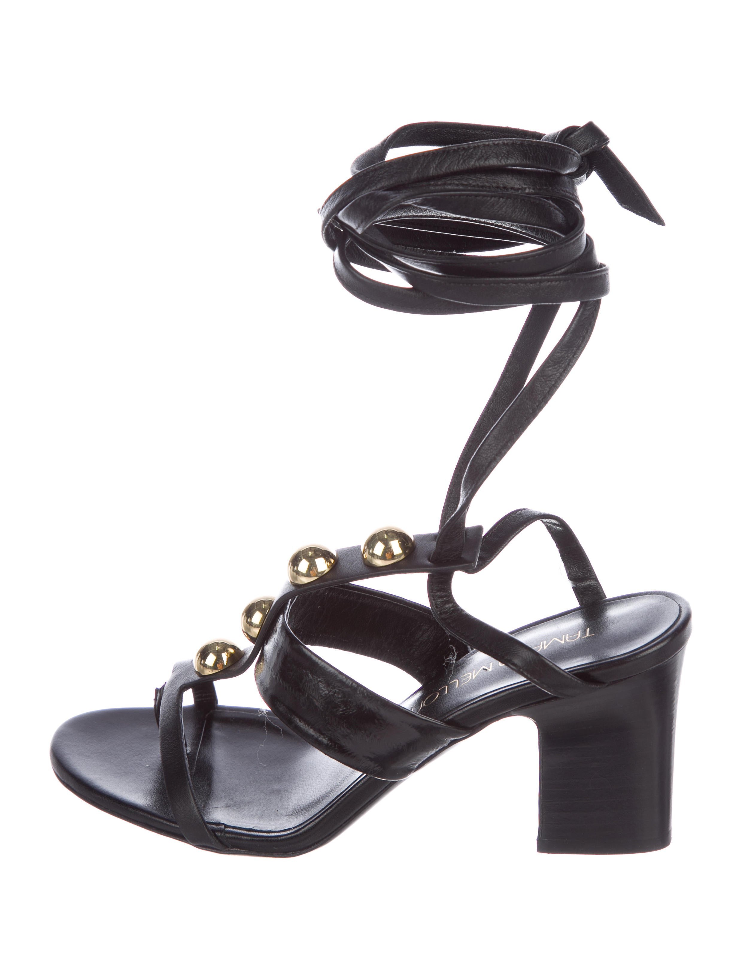 Tamara Mellon Leather Wrap-Around Sandals cheap online store Manchester find great online discount choice buy cheap wide range of pHhXD9m