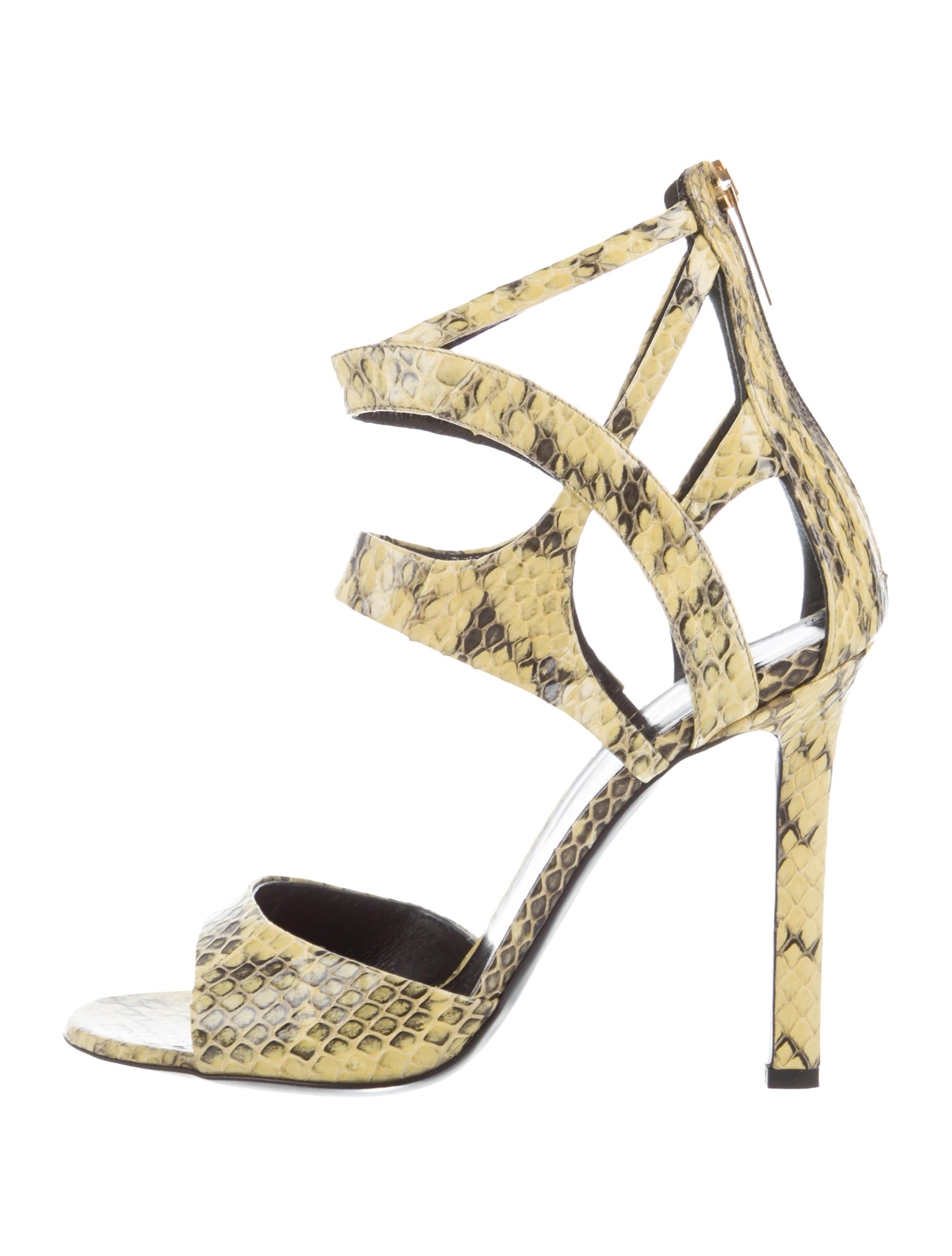 discount under $60 outlet huge surprise Tamara Mellon Snakeskin Ankle Strap Sandals w/ Tags cheap sale best seller FPHDfXN9