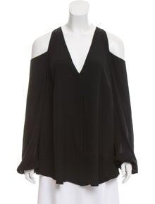 4ca3b95d3b6 Tamara Mellon. Silk Cold-Shoulder Blouse