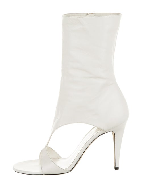 Tamara Mellon Leather Sock Boots White