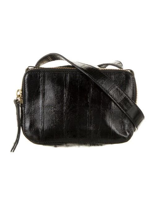 Tamara Mellon Sidekick Leather Crossbody Bag Black