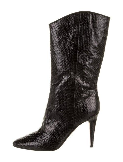 Tamara Mellon Snakeskin Boots Black