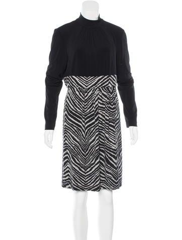 Trina Turk Zebra Print A-Line Dress