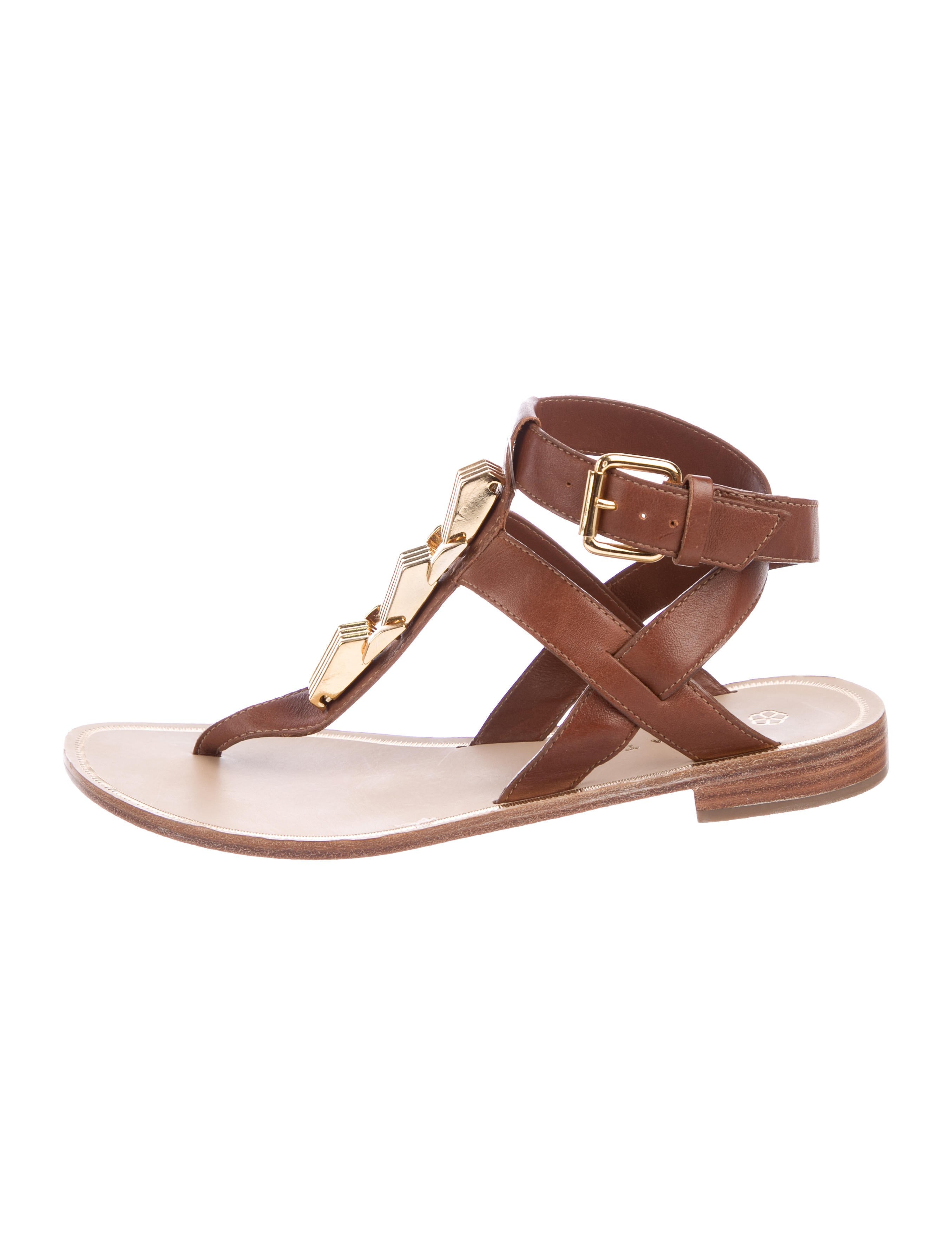 Trina Turk Leather Baker Sandals free shipping ebay 6hBJbOckfD