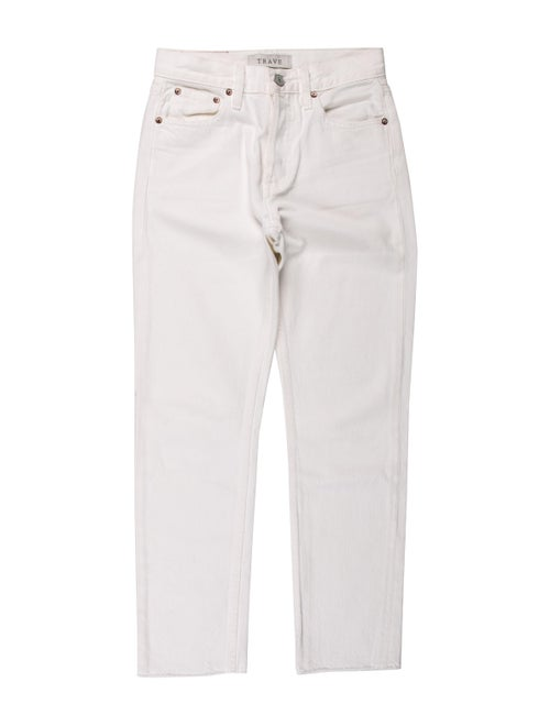 Trave Mid-Rise Straight Leg Jeans White