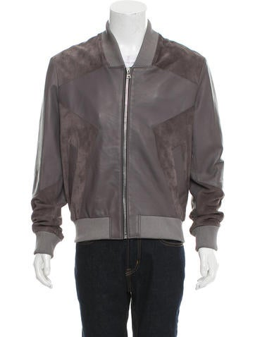 TrapStar London Suede & Leather Zip-Up Jacket None