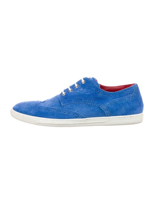 Tricker's Suede Derby Shoes Blue