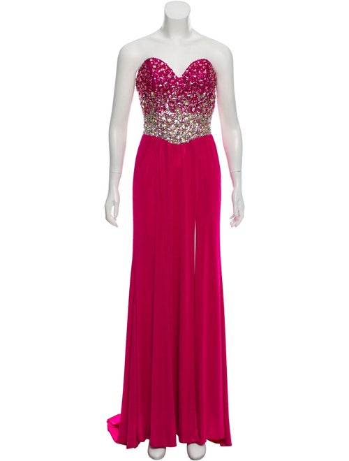 Terani Couture Embellished Evening Gown Pink