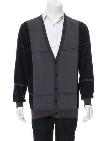 TSE Striped Rib Knit Cardigan w/ Tags None