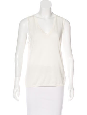 TSE Sleeveless Knit Top None