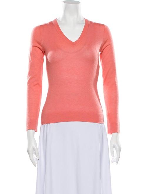 TSE Cashmere V-Neck Sweater Orange
