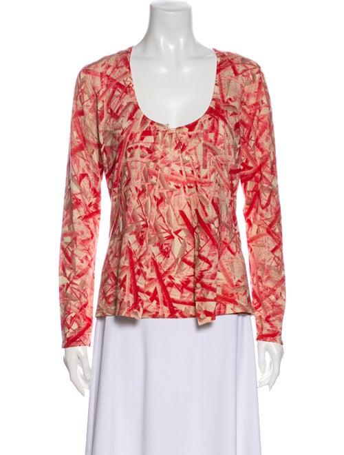 TSE Silk Printed Sweater