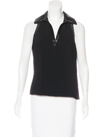 Theia Embellished Sleeveless Top w/ Tags None