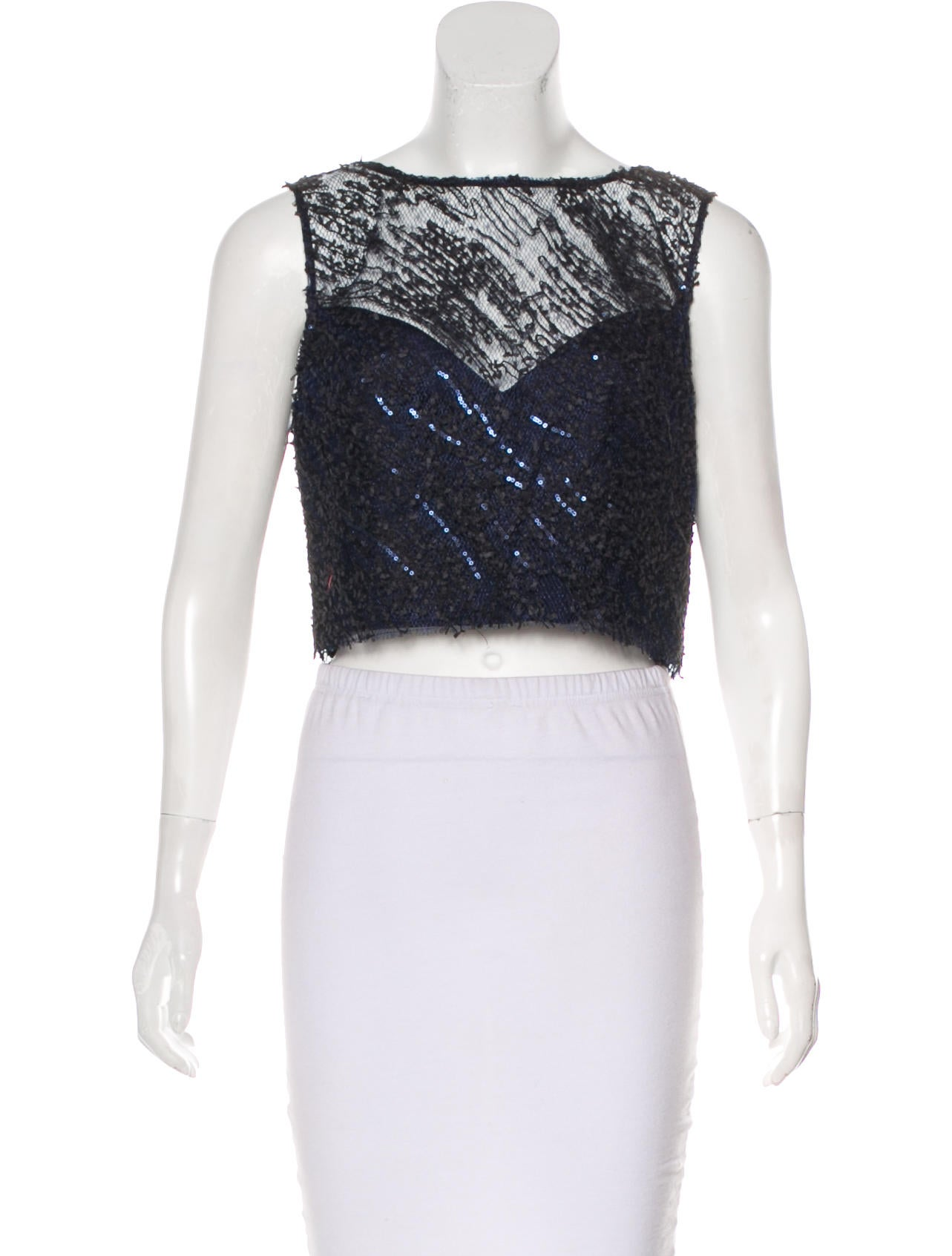 ec00a88fdc131 Theia Embellished Crop Top w  Tags - Tops - WTT20412