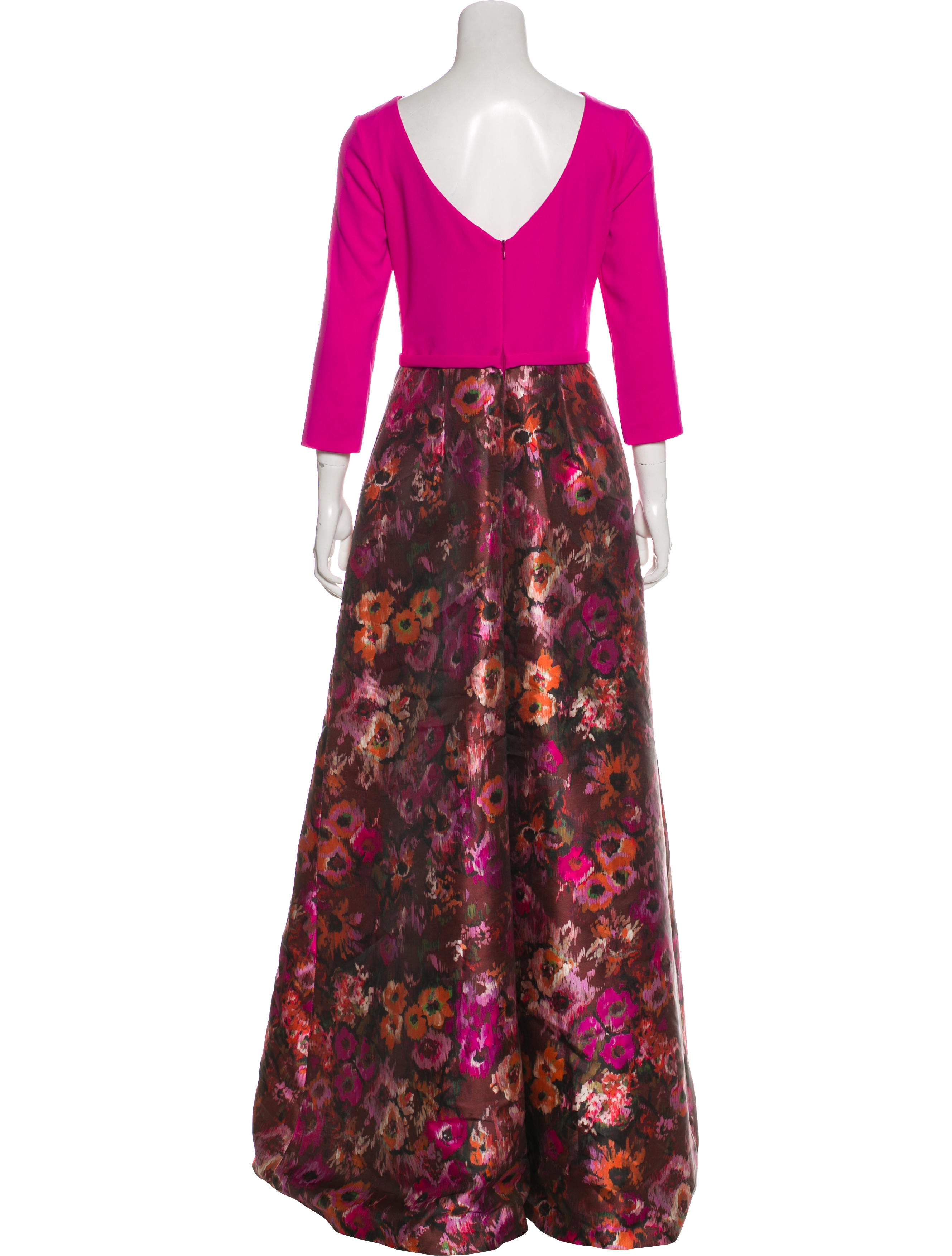 Theia Floral Print Evening Dress w/ Tags - Clothing - WTT20604 | The ...