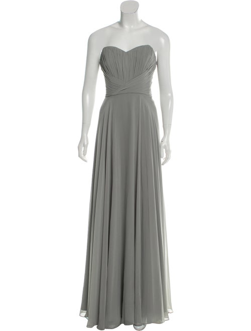 Theia Flared Maxi Dress Grey