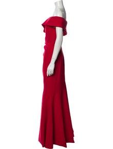 Theia One-Shoulder Long Dress