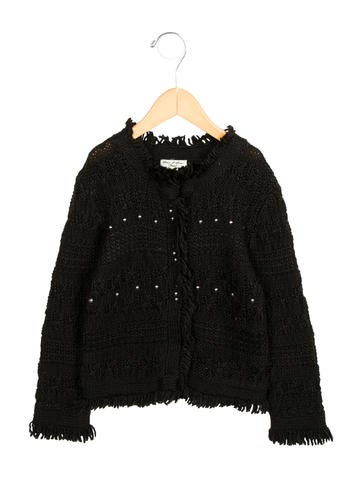 Tartine et Chocolat Girls' Embellished Knit Cardigan None