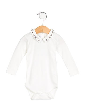 Tartine et Chocolat Girls' Embroidered Long Sleeve All-In-One w/ Tags