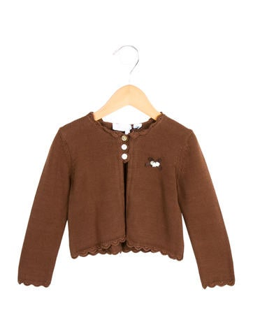 Tartine et Chocolat Girls' Knit Scallop-Trimmed Cardigan w/ Tags None