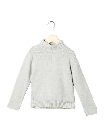Tartine et Chocolat Girls' Rib Knit Turtleneck Sweater None