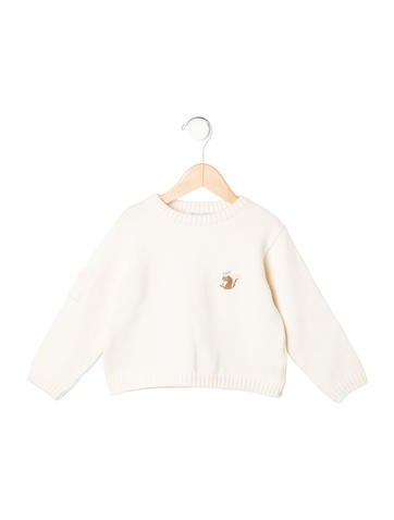 Tartine et Chocolat Boys' Embroidered Wool-Blend Sweater None