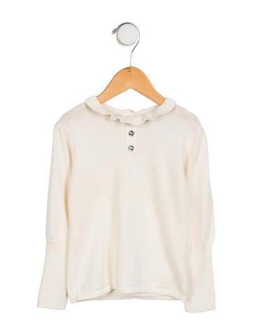 Tartine et Chocolat Girls' Angora-Blend Sweater None