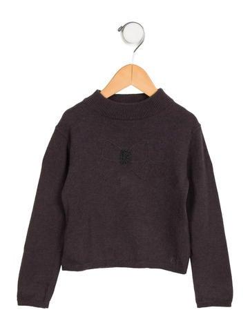 Tartine et Chocolat Girls' Embellished Bow Sweater None