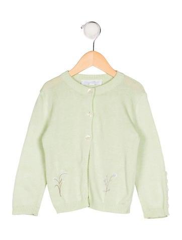 Tartine et Chocolat Girls' Embroidered Knit Cardigan None