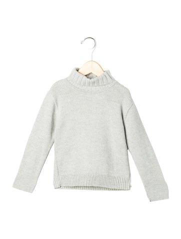 Tartine et Chocolat Girls' Rib Knit Turtleneck Sweater None