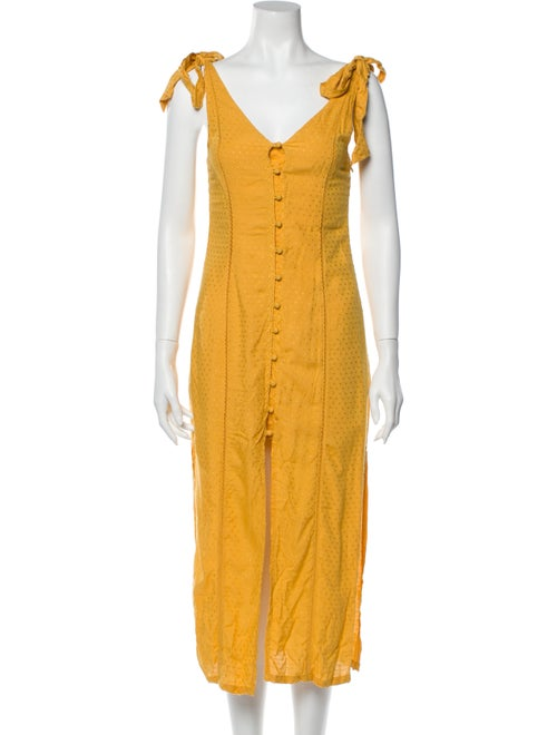 Tularosa V-Neck Long Dress Yellow