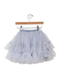Tutu De Monde Girls' Embellished Tulle Skirt