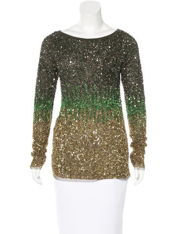 Tulle Sequined Top
