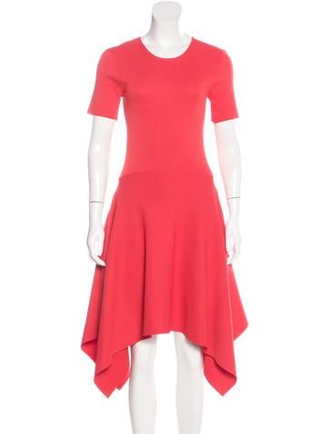 TY-LR Asymmetrical Rib Knit Dress w/ Tags None